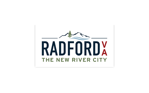 Radford Virginia logo - The new river city