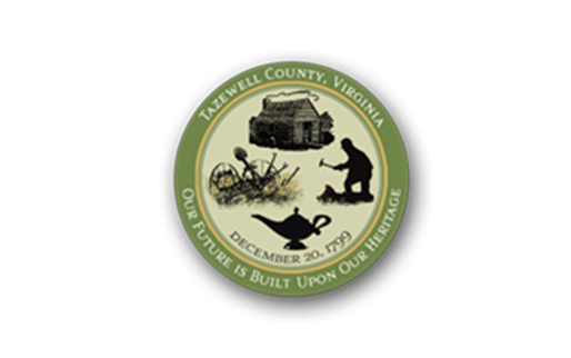 Tazewell County Virginia logo - Our Future is Built Upon Our Heritage